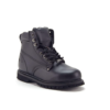 Men's Genuine Leather Black Steel Toe Outdoor Construction Safety Work Boots