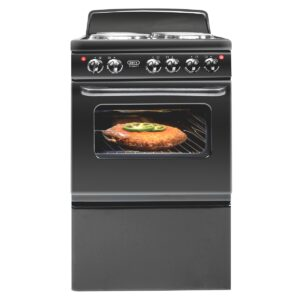 Defy - Compact 4 Plate Stove - Black