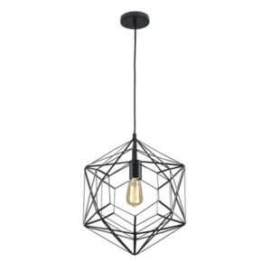 Bright Star Lighting Metal Pendant with Geometric Pattern - 430mm - 400mm