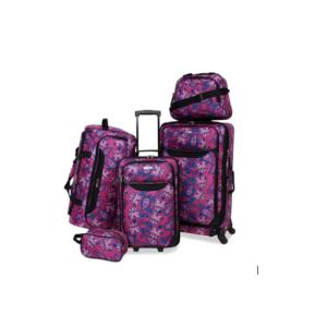 Tag Springfield III Printed 5PC Luggage Set Hally