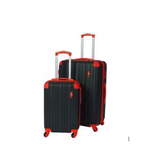San Juan 2 Pieces Luggage Set - Black & Red Trim
