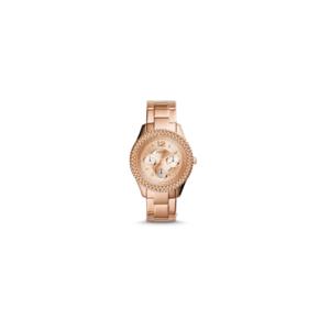 Fossil Ladies Stella Rose Stainless Steel Strap Watch - ES3590