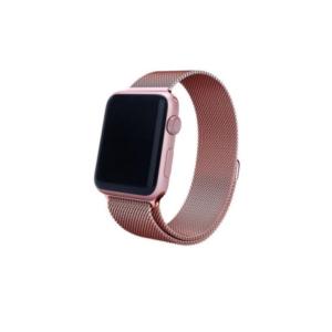 Rose Pink Milanese Loop Steel Strap for Apple Watch