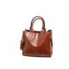 FCG Faux Leather Shoulder Handbag - Toffee Brown