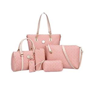 Multi-Function Mummy Bag Set - Pink (Set of 6)