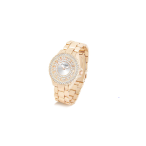 Ladies Rose Gold Watch Encrusted with Crystals