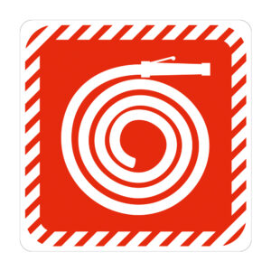 Sign Symbolic Red Fire Horse Reel on White ACP (150x150mm)