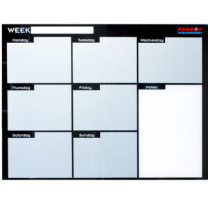Weekly Planner Cast Acrylic - 600 x 450mm