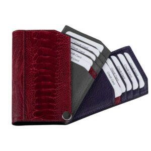 Ashton Ostrich Leather Card Holder
