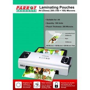 Laminating Pouch A4 220X310 200(100+100)MIC BOX100