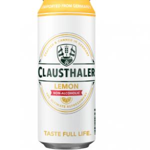 24 x 500ml Clausthaler Alcohol Free Lemon Can