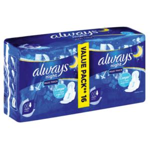 Always Sanitary Pads Maxi Duo 16's