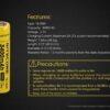 Nitecore 3400MAH Rechargeable 18650 Battery
