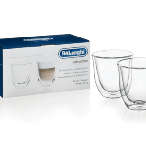 Delonghi Double Wall Thermo Cappuccino Glasses Set of 2