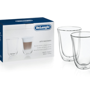 Delonghi Double Walled Thermo Latte Glasses Set of 2