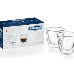 Delonghi Double Wall Thermo Espresso Glasses Set of 2
