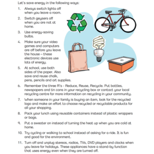 Energy Saving Practices - Poster