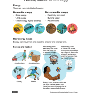Forces Motion And Energy - Poster