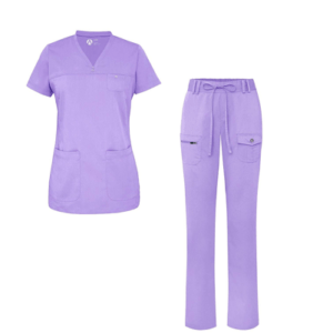 Lilac Purple Scrub Uniform Set
