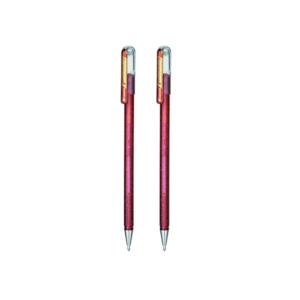 Hybrid Gel Dual-Metallic Roller Pen (Pack Of 2)