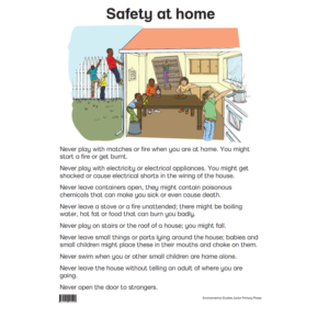 Safety At Home - Poster