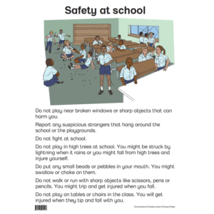 Safety At School - Poster