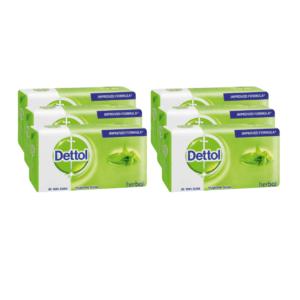 6 x 175g Dettol Soap Herbal