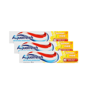 3 x Aquafresh Tooth Paste Lemon Mint
