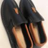 Shilongo Leather Smart Vellie Folded Black