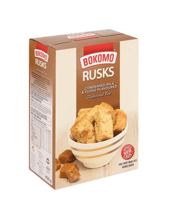 24x450g Bokomo Condensed Milk & Fudge Rusks