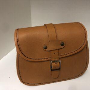 Shilongo Leather Handbag Smallest 1c Brown