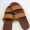 Shilongo Leather Slip-on Sandals Brown