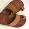 Shilongo Leather Toe Sandals Brown