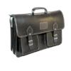 Shilongo Leather Laptop Bag - Black