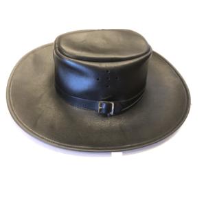 Shilongo Leather – Black Leather Hat