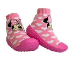 Baby Minnie Mouse Sock with Rubber Sole
