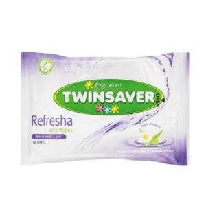10x10's Twinsaver Refresha Wet Wipes