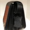 Shilongo Leather Ostrich Handbag Black