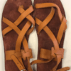 Shilongo Leather Come To Jesus Sandals Brown