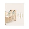 Belecoo Wooden 5 in 1 Baby Cot with Cot Bumper Mat - Dinosaur Print