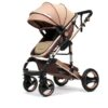 Belecoo Baby Stroller 2 in 1 Foldable Pram
