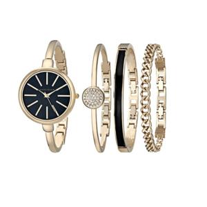 Anne Klein Women's Bangle Watch and Bracelet Set AK/1470