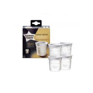 Tommee Tippee - Breast Milk Storage Pots - 4 Pack