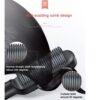 Professional Hair Care Straightener Curler Styler Brush - Black Blue
