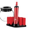 Electric Makeup Brush Cleaner and Dryer- Red