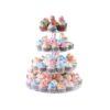 Cake Holder Round Acrylic 4 Tier Cupcake Cake Stand
