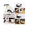 Mix Box Cat Tree Scratcher Playpost Climbing Toy Cat House - Gray Beige