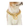 UrbanPets - Dog Collar Plated Gold Stainless Steel Cuban Curb Link Chain
