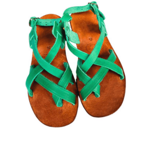 Shilongo Leather - Come To Jesus Sandals Green