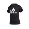 adidas Women's Badge of Sport Logo Tee - Black/White - XS
